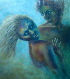Arte Introspettiva di Aurora Mazzoldi, Agganci (dettaglio), acrilico su tela