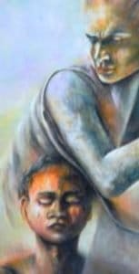 Mazzoldi-Reciprocity-Mother1-Possession-detail-acrylic-on-canvas