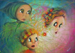 """""""Unexpected"""" - So act the spiral of life - acrylic on canvas. Aurora Mazzoldi"""