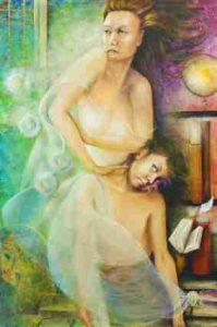 """""""Madre 2 - L'Oppressione"""". Un esempio di arte ed economia insieme; acrilico su tela. Aurora Mazzoldi"""