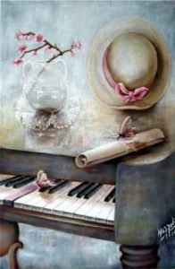 """""""The 8th Note""""; acrylic on canvas by Aurora Mazzoldi. It represents inner work and self-discovery."""