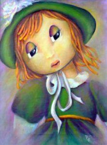 """Aurora Mazzoldi - """"Emily"""" - per la pagina """"Obbedire o non obbedire""""acrylic on canvas"""