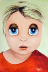 """Aurora Mazzoldi - """"Jane"""" acrylic on canvas -Seguire istinto e intuizioni?"""